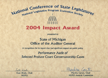 Performance Audit of Selected Probate Court Conservatorship Cases