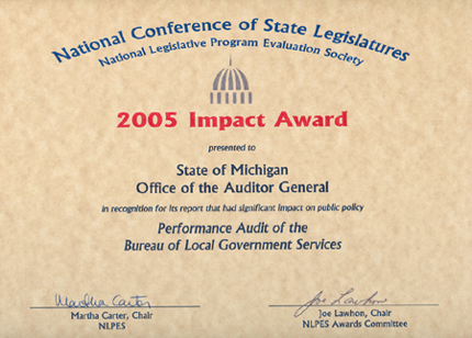 Performance Audit of the Bureau of Local Government Services
