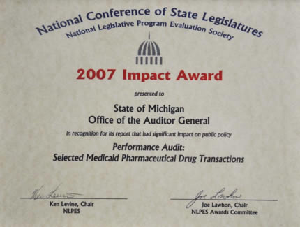 Performance Audit of Selected Medicaid Pharmaceutical Drug Transactions