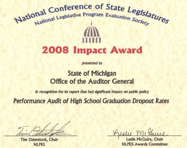 Performance Audit of High School Graduation and Dropout Rates