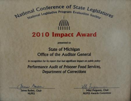 Performance Audit of Prisoner Food Services