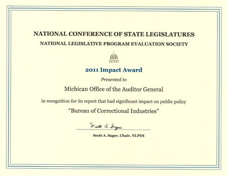 Performance Audit of Bureau of Correctional Industries